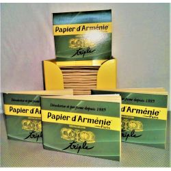 Carnet de papier d'Arménie vert