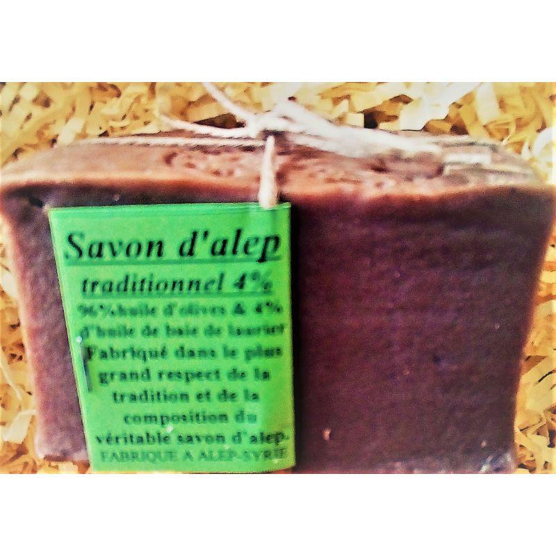 Savon d'Alep traditionnel 4 % d'huile de baie de laurier