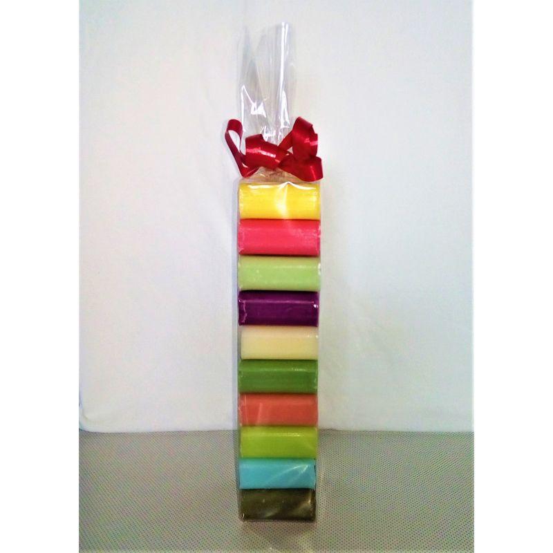 Emballage cadeaux 10 savons carré 30 grammes