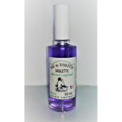eau de toilette 50 ml violette avec pulvérisateur